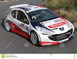 france peugeot peugeot 207 racing editorial image image 75090435