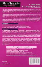 mass transfer theory and practice meera sheriffa k m begum n