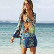 us women chiffon bathing suit cover up beach dress swimwear