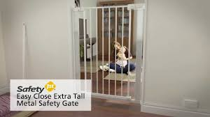 Baby Safety Gates For Stairs Safety 1st Easy Close Extra Tall Metal Safety Gate Youtube
