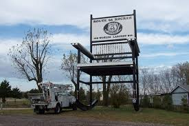 world s largest lava l former world s largest rocking chair cuba missouri atlas obscura