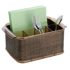 Kitchen Knives Storage by Furniture Charming Brown Utensil Caddy For Spoons And Tissue