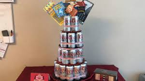 beer can cake 35th birthday set up beer can cake youtube