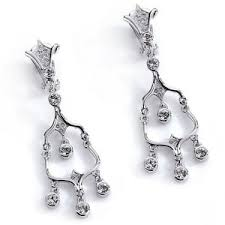 Designer Chandelier Earrings Designer Chandelier Earrings Clip Swarovski Elements