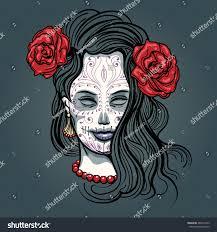 day dead illustration face sugar stock vector 489274105