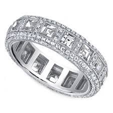 eternity wedding bands wedding band square and diamond eternity wedding band 3 15