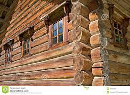 russian log house stock photos image 33392913