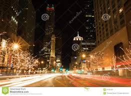 magnificent mile lights festival 2017 holiday lights on michigan avenue editorial stock image image of