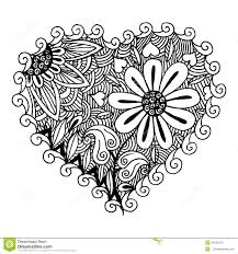hearts zentangle stock vector image 54568453
