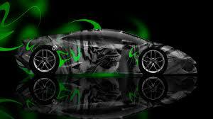 Lamborghini Huracan Lime Green - lamborghini huracan side tiger aerography car 2014 el tony