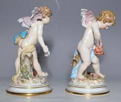 meissen porcelain large devinsenkinder cupid figurines with