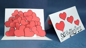 pop up card hearts pop up card step by step