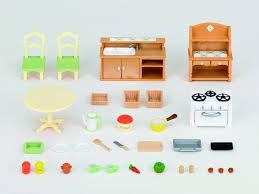 produit cuisine sylvanian families 2951 set cuisine poupées et accessoires