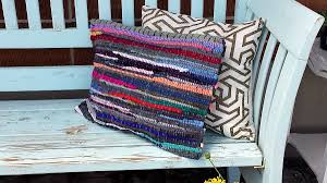How To Make Braided Rug Rag Rug Pillow Diy