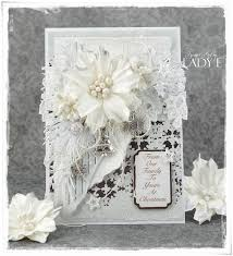 monochrome christmas card u0026 video tutorial wild orchid crafts dt
