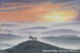 easy landscape paintings watercolor digital home images