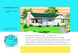 Modern Contemporary Floor Plans by 1940s And 50s House Plans Contemprary Houses And Floor Plans Of