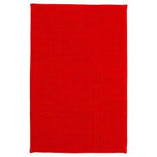 badaren bath mat bright red 40x60 cm ikea