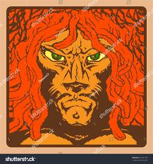 man face lion dreadlocks rastafarian reggae stock vector 321621473
