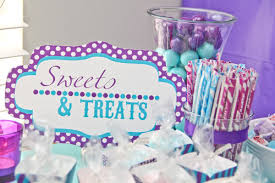 baby shower colors purple and aqua carnival county fair baby girl shower sweet treats