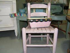 catching up and a pink chalk clay painted child rocker