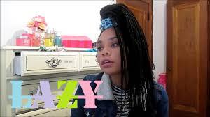 cute u0026 lazy hairstyles for long box braids youtube