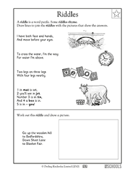 1st grade reading worksheets reading practice riddles greatschools
