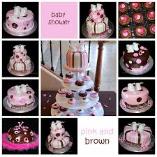 pink and brown baby shower pink and brown baby shower cake and cupcakes brown flickr