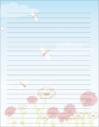 writing paper template with picture printable writing paper