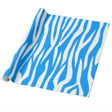 zebra print wrapping paper light blue zebra print wrapping paper zazzle