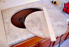 cutting countertop for sink how to install a new laminate countertop