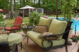 Replacing Fabric On Patio Chairs Patio Replacement Cushions For Wicker Furniture Home Depot