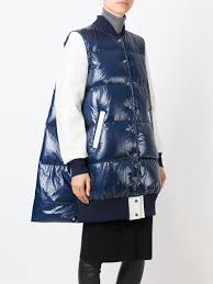 sacai luck lyst sacai luck quilted cotton blend and jacket in blue