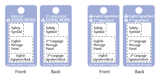 ansi z535 5 safety tags u0026 tapes formats