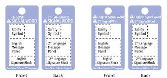 ansi z535 5 safety tags u0026 tapes formats