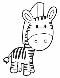 baby zebra coloring pages getcoloringpages