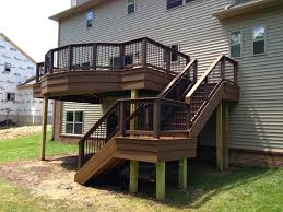 Corner Deck Stairs Design Outdoor Living Deck Designs From 2013 Adding Flair To A Square