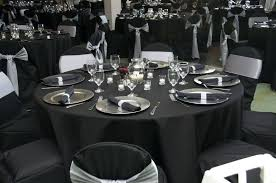 tablecloths decoration ideas creative silver wedding centerpieces images black and silver table