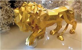 gold lion statues pac x orlinski the official sculptures by neamedia kickstarter