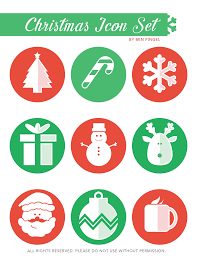 cute christmas icon set ben pingel portfolio