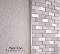 Super Simple DIY Tile Backsplash Simple Diy Super Simple And Bricks - Home depot tile backsplash