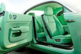 customized rolls royce interior unique mint green interior custom rolls royce wraith rolls royce