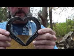 heart shaped horseshoes blacksmithing forging a horseshoe heart