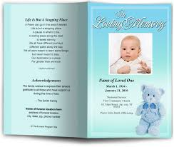 memorial service programs with children baby youth theme