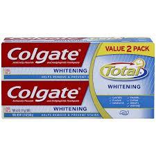toothpaste whitening colgate total anti cavity fluoride whitening toothpaste 6 oz
