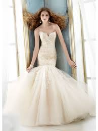 cheap tulle trumpet mermaid sweetheart court lace and tulle wedding
