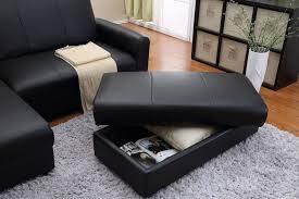 Black Leather Ottoman Coffee Table Top Black Leather Ottoman Coffee Table Elegant Black Leather