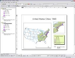 layout view zoom arcmap instructions