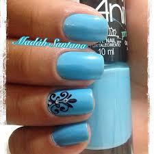 65 most stylish light blue nail designs