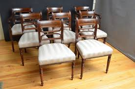 Antique Regency Dining Chairs Set Of 8 Regency Dining Chairs Inc 2 Carvers Antiques Atlas